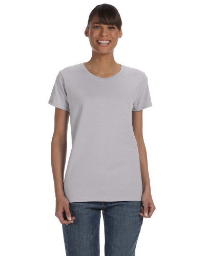 Sport Grey Classic Cotton Ladies' Missy Fit T-Shirt as seen from the front