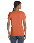 Sunset Classic Cotton Ladies' Missy Fit T-Shirt as seen from the back