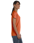 Sunset Classic Cotton Ladies' Missy Fit T-Shirt as seen from the sleeveleft