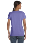 Violet Classic Cotton Ladies' Missy Fit T-Shirt as seen from the back
