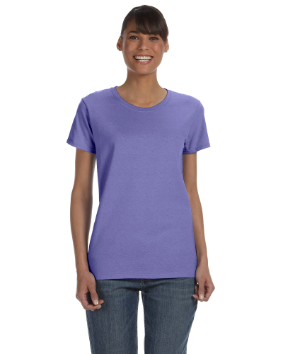 Violet Classic Cotton Ladies' Missy Fit T-Shirt as seen from the front