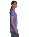 Violet Classic Cotton Ladies' Missy Fit T-Shirt as seen from the sleeveleft