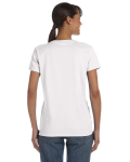 White Classic Cotton Ladies' Missy Fit T-Shirt as seen from the back