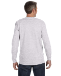 Ash Grey Classic Cotton Long-Sleeve T as seen from the back