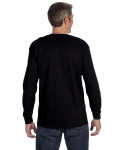 Black Classic Cotton Long-Sleeve T as seen from the back