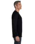 Black Classic Cotton Long-Sleeve T as seen from the sleeveleft