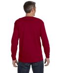 Cardinal Red Classic Cotton Long-Sleeve T as seen from the back