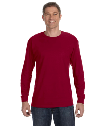 Cardinal Red Classic Cotton Long-Sleeve T as seen from the front