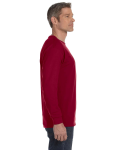 Cardinal Red Classic Cotton Long-Sleeve T as seen from the sleeveleft