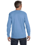 Carolina Blue Classic Cotton Long-Sleeve T as seen from the back