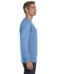 Carolina Blue Classic Cotton Long-Sleeve T as seen from the sleeveleft