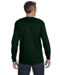 Forest Green Classic Cotton Long-Sleeve T as seen from the back