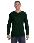 Forest Green Classic Cotton Long-Sleeve T as seen from the front