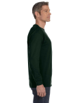 Forest Green Classic Cotton Long-Sleeve T as seen from the sleeveleft