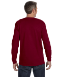 Garnet Classic Cotton Long-Sleeve T as seen from the back