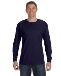 Navy Classic Cotton Long-Sleeve T as seen from the front