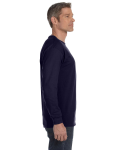 Navy Classic Cotton Long-Sleeve T as seen from the sleeveleft