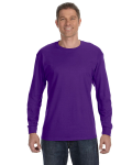 Purple Classic Cotton Long-Sleeve T as seen from the front
