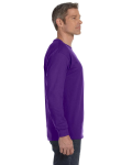 Purple Classic Cotton Long-Sleeve T as seen from the sleeveleft