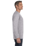 Sport Grey Classic Cotton Long-Sleeve T as seen from the sleeveleft