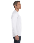 White Classic Cotton Long-Sleeve T as seen from the sleeveleft
