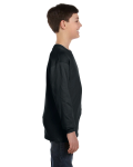 Black Classic Cotton Youth Long-Sleeve T as seen from the sleeveleft