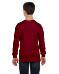 Garnet Classic Cotton Youth Long-Sleeve T as seen from the back