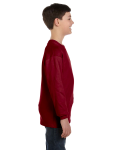 Garnet Classic Cotton Youth Long-Sleeve T as seen from the sleeveleft