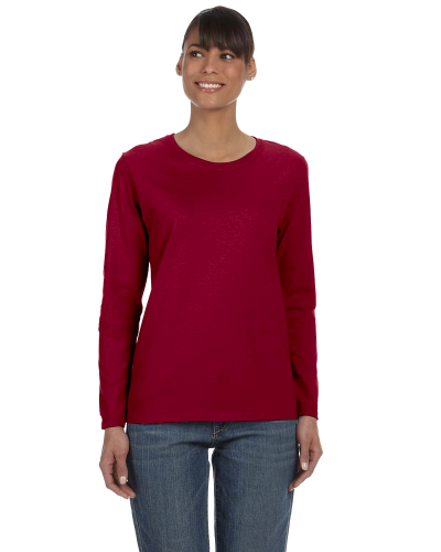 Cardinal Red Classic Cotton Ladies' Missy Fit Long-Sleeve T as seen from the front