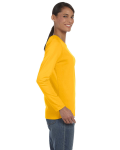Gold Classic Cotton Ladies' Missy Fit Long-Sleeve T as seen from the sleeveleft