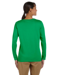 Irish Green Classic Cotton Ladies' Missy Fit Long-Sleeve T as seen from the back