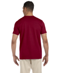 Antque Cherry Red SoftStyle T as seen from the back