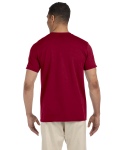 Cardinal Red SoftStyle T as seen from the back