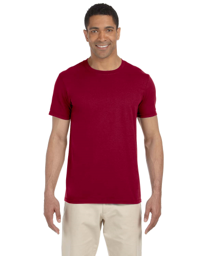 Cardinal Red SoftStyle T as seen from the front