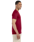 Cardinal Red SoftStyle T as seen from the sleeveleft