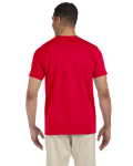 Cherry Red SoftStyle T as seen from the back