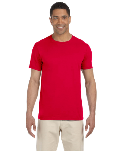 Cherry Red SoftStyle T as seen from the front