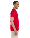 Cherry Red SoftStyle T as seen from the sleeveleft