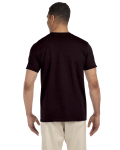 Dark Chocolate SoftStyle T as seen from the back