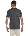 Dark Heather SoftStyle T as seen from the back