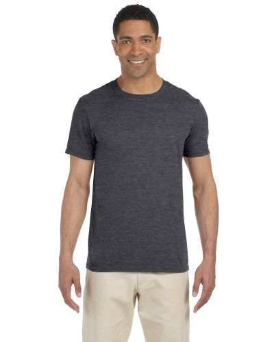Dark Heather SoftStyle T as seen from the front