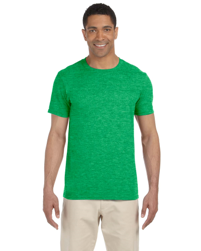 Heather Irish Green SoftStyle T as seen from the front