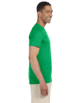 Heather Irish Green SoftStyle T as seen from the sleeveleft