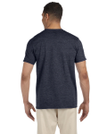 Heather Navy SoftStyle T as seen from the back