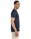 Heather Navy SoftStyle T as seen from the sleeveleft