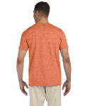 Heather Orange SoftStyle T as seen from the back