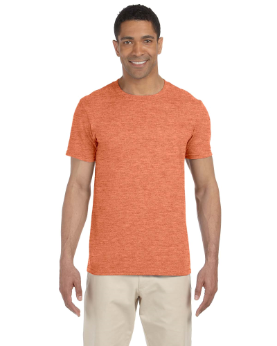 Heather Orange SoftStyle T as seen from the front