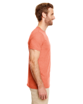 Heather Orange SoftStyle T as seen from the sleeveleft