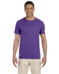 Heather Purple SoftStyle T as seen from the front