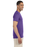 Heather Purple SoftStyle T as seen from the sleeveleft